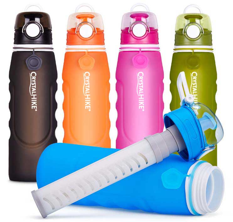 Farebné varianty filtračnej fľašky CrystalHIKE