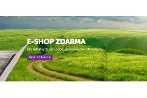 E-shop zadarmo pre kvalitných slovenských výrobcov