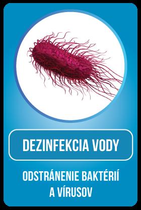 Dezinfekcia vody - odstránenie baktérií a vírusov