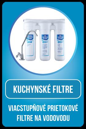 Kuchynský filter - viacstupňový prietokový filter na vodovodu