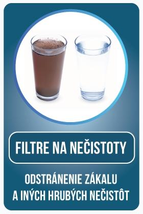 Mechanické filtre na odstránenie zákalu a iných hrubých nečistôt