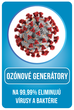 Ozónový generátor eliminuje baktérie a vírusy