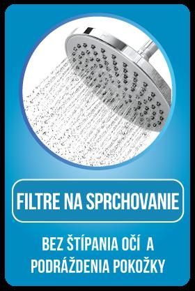 Sprchové filtre na sprchovanie bez dráždenia očí a pokožky