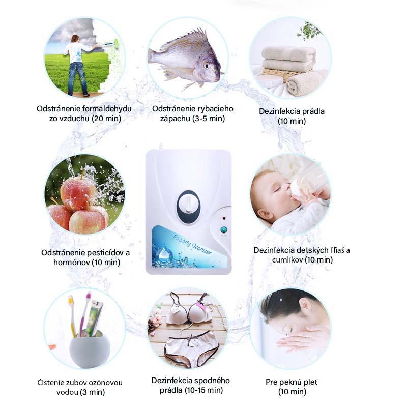 Ozónový generátor na zeleninu a potraviny, na odstránenie vírusov, pesticídov, hormónov