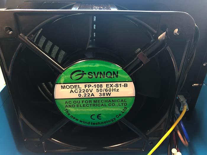 Ozónový generátor CrystalO3 10G, ventilátor