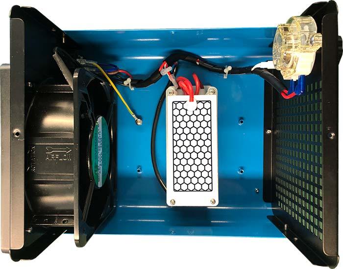 Ozónový generátor na dezinfekciu CrystalO3 10G vnútro