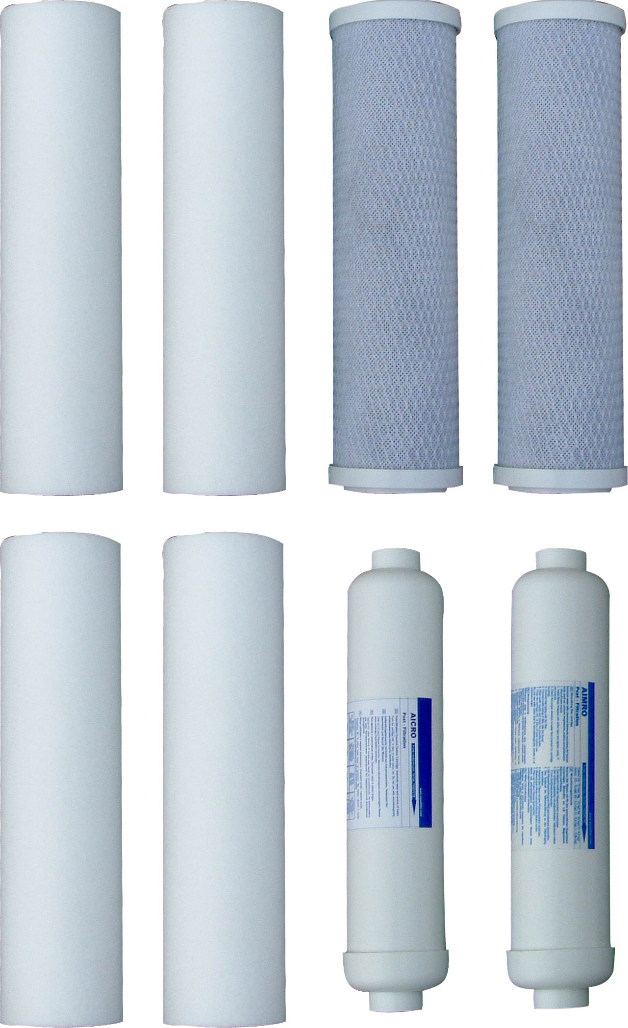 Filter na vodu pred a po