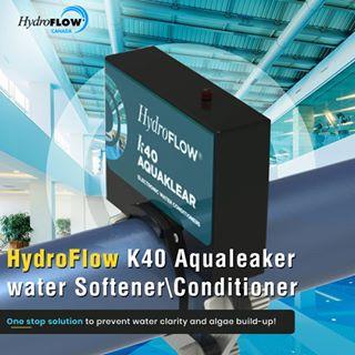 Hydroflow K40 Aquaklear zmäkčuje vodu v bazénoch, vírivkách, akváriách